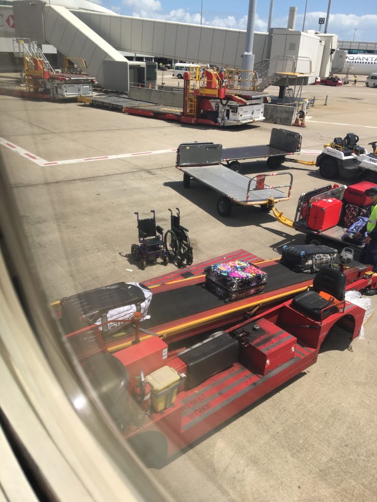 hobart qantas wheelchair access