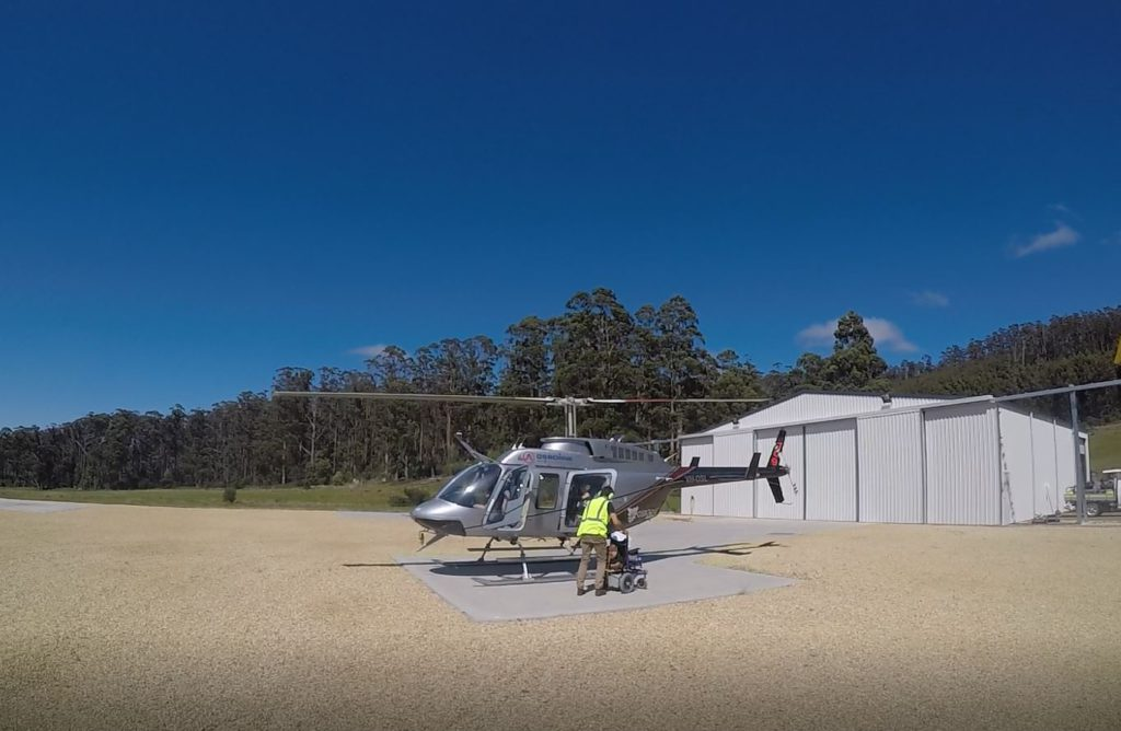 Osborne heli tours wheelchair port arthur blog