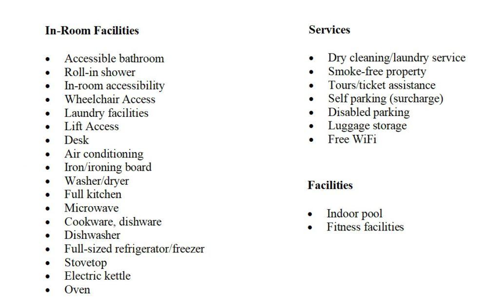 Melbourne Short Stay Apartments Facilities
