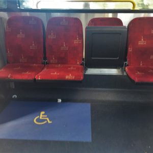 Brisbane city buses wheelchair seating
