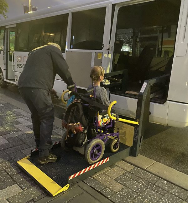 Busy Blue Bus Accessible Bus Hire