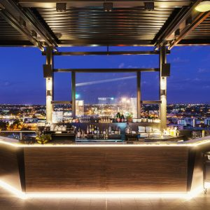 Quest East Perth Rooftop bar with lighting shoot 1